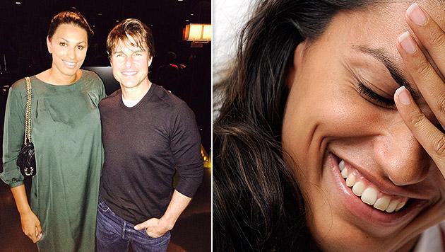 Tom Cruise und Fabienne Nadarajah liefen sich in einem Wiener Lokal über den Weg. (Bild: APA/Hans Klaus Techt, facebook.com/fabienne.nadarajah)