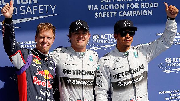 "Nico Rosberg braust im verregneten Spa zu ""Pole"" (Bild: APA/EPA/VALDRIN XHEMAJ)"