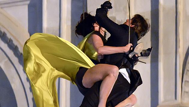 """Stuntproben zu """"Mission: Impossible V"""" in Wien (Bild: APA/Herbert Neubauer)"""