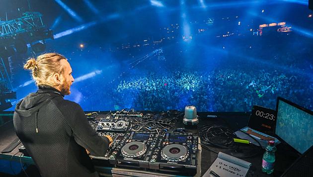 David Guetta während seines Auftritts am Lake Festival 2014 in Graz (Bild: foto-scharinger.at/Daniel Scharinger)