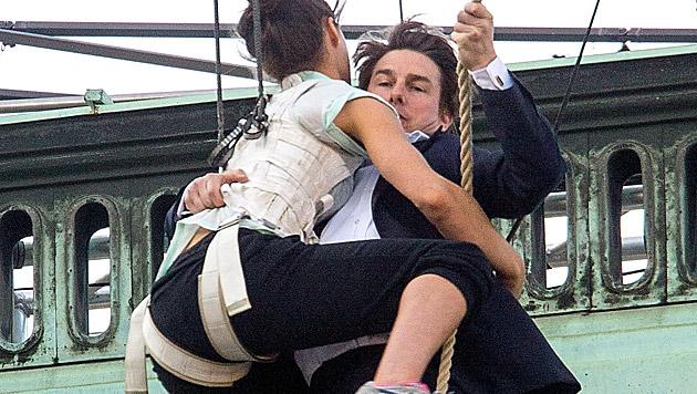 """Stuntproben zu """"Mission: Impossible V"""" in Wien (Bild: APA/photonews.at/Georges Schneid)"""