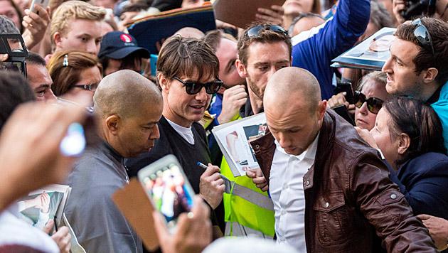 Seit Tagen immer wieder inmitten zahlreicher Fans zu sehen: Tom Cruise (Bild: APA/photonews.at/Georges Schneid)