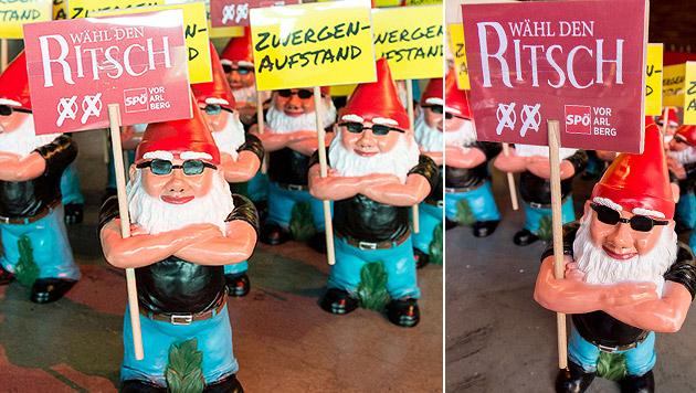 Vorarlberger SPÖ vermisst ihre Wahl-Gartenzwerge (Bild: APA/DIETMAR STIPLOVSEK)