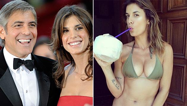 18 Monate waren George Clooney und Elisabetta Canalis liiert. (Bild: PAUL BUCK/EPA/picturedesk.com, instagram.com/elisabettacanalis)