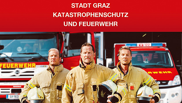 """Startbild der """"Stadt Graz Feuerwehr App"""" (Bild: Stadt Graz Katastrophenschutz und Feuerwehr)"""