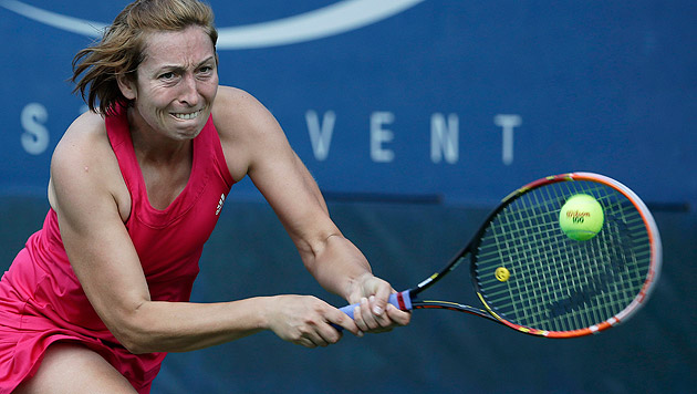 Tennis: Meusburger gibt Karriere-Ende bekannt (Bild: APA/EPA/Jason Szenes)