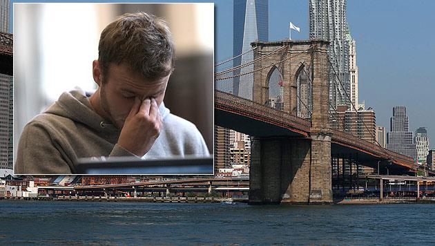 Wegen Handyfotos von Brooklyn Bridge im Gefängnis (Bild: AP, EPA, krone.at-Grafik)