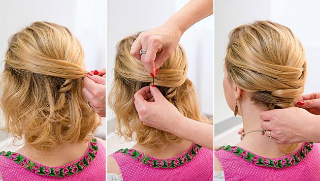 Hochsteckfrisuren fur kurze haare anleitung