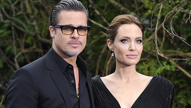 Brad Pitt und Angelina Jolie haben in Frankreich geheiratet. (Bild: APA/EPA/FACUNDO ARRIZABALAGA)