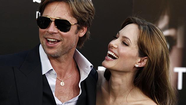 Brad Pitt und Angelina Jolie bei einer Filmpremiere im Jahr 2010. (Bild: AP)