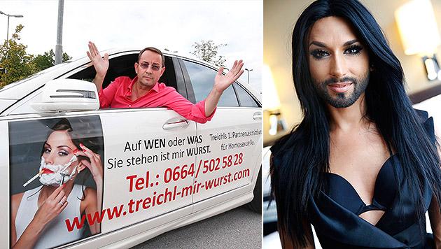 Conchita Wurst will 20.000 Euro Schadenersatz (Bild: Markus Tschepp, APA/EPA/FREDRIK PERSSON)