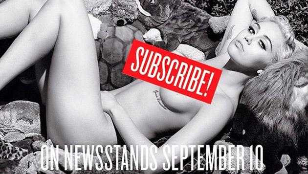 """Miley zeigt sich für das """"V""""-Magazin hüllenlos. (Bild: instagram.com/mileycyrus)"""