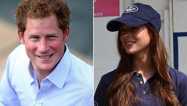 Prinz Harry ist angeblich mit Camilla Thurlow liiert. (Bild: APA/EPA/FERNANDO BIZERRA JR, facebook.com/ThurlowCamilla)