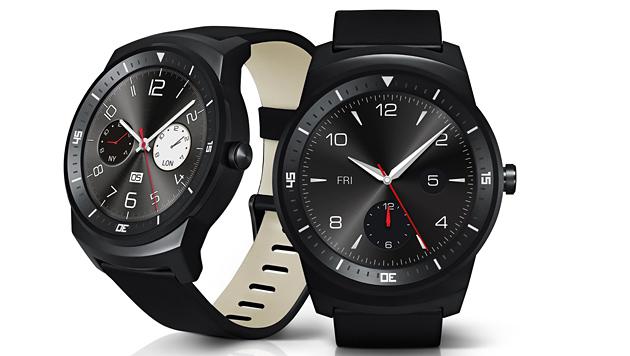 Die G Watch R von LG ist von einer klassischen Uhr nicht zu unterscheiden. (Bild: LG)