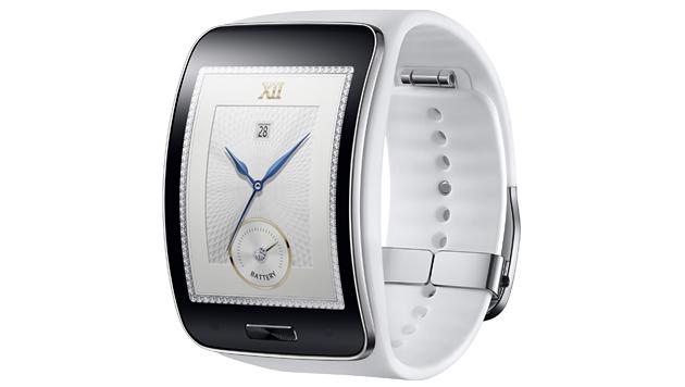 Neben einer schwarzen gibt es die Samsung-Smartwatch auch in einer weißen Version. (Bild: Samsung)