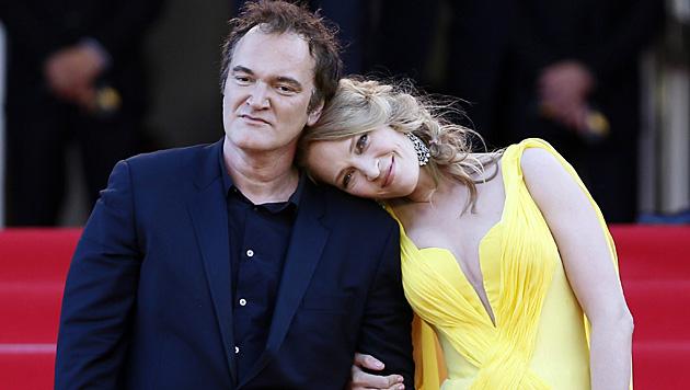 Doch kein Paar: Quentin Tarantino und Uma Thurman (Bild: APA/EPA/IAN LANGSDON)