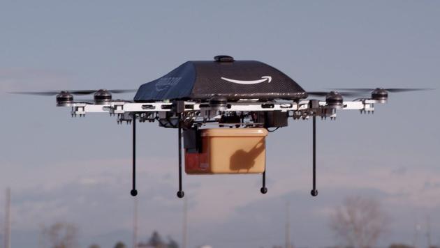 Der Wettlauf der Boten-Drohnen hat begonnen (Bild: Amazon)