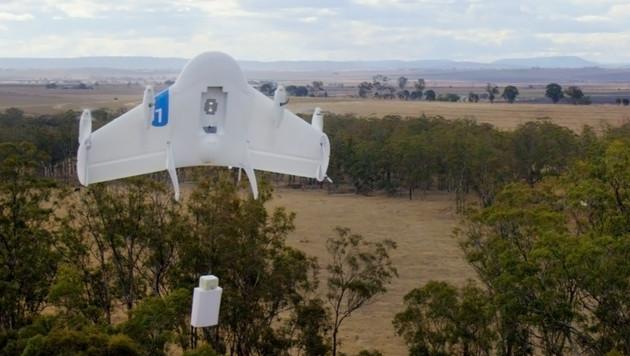 Google-Drohnen liefern an US-Uni Burritos aus (Bild: Google/AP)