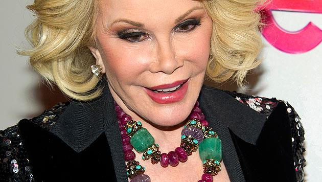 """""""Fashion Police""""-Star und Komikerin Joan Rivers ist berühmt für ihr loses Mudwerk. (Bild: AP/Charles Sykes)"""