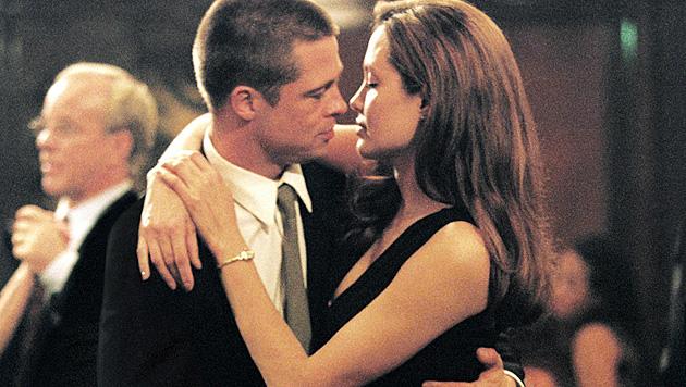 """2004 lernten sich Brad Pitt und Angelina Jolie bei den Dreharbeiten zu """"Mr. & Mrs. Smith"""" kennen. (Bild: AP)"""