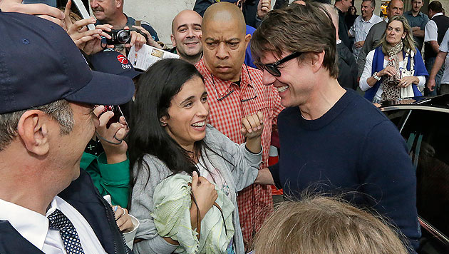 Tom Cruise umringt von Fans in Wien (Bild: Klemens Groh)