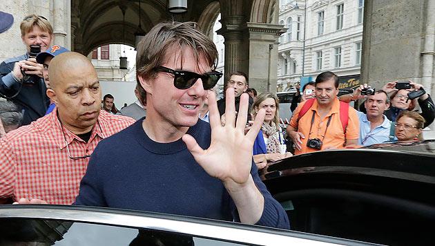 Tom Cruise bei Dreharbeiten in Wien (Bild: Klemens Groh)