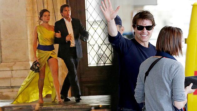 Tom Cruise und Rebecca Ferguson drehten fast eineinhalb Wochen in Wien. (Bild: Reinhard Holl, Klemens Groh)