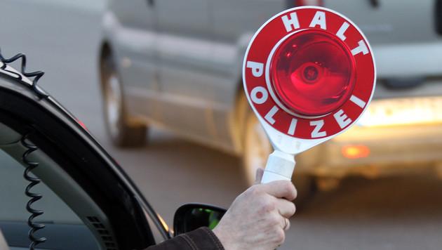 Autodieb liefert sich mit Polizei Verfolgungsjagd (Bild: Peter Tomschi)