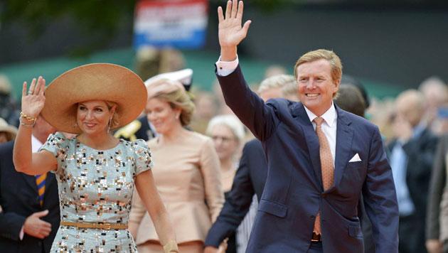 Königin Maxima und König Willem-Alexander feiern den 200. Geburtstag ihres Königreichs ... (Bild: EPA)