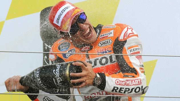Marc Marquez feiert elften Sieg im zwölften Rennen (Bild: AP)