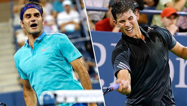 Idol Roger Federer macht Dominic Thiem stark (Bild: AP)