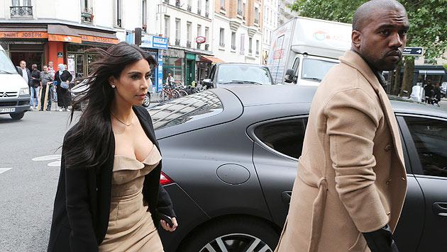 Kim Kardashian und ihr Gatte Kanye West (Bild: AFP/Jacques Brinon)