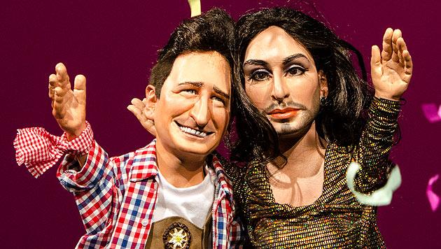 Andreas Gabalier und Conchita Wurst (Bild: Christian Müller)
