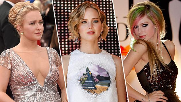 Die iClouds von Hayden Panettiere, Jennifer Lawrence und Avril Lavigne wurden gehackt. (Bild: AFP, APA/EPA/JULIEN WARNAND, AP)