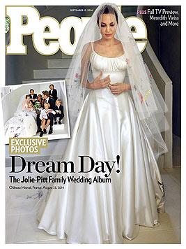 """Das """"People""""-Magazin veröffentlichte gemeinsam mit dem """"Hello""""-Magazin die Bilder der Pitt-Hochzeit. (Bild: people.com)"""