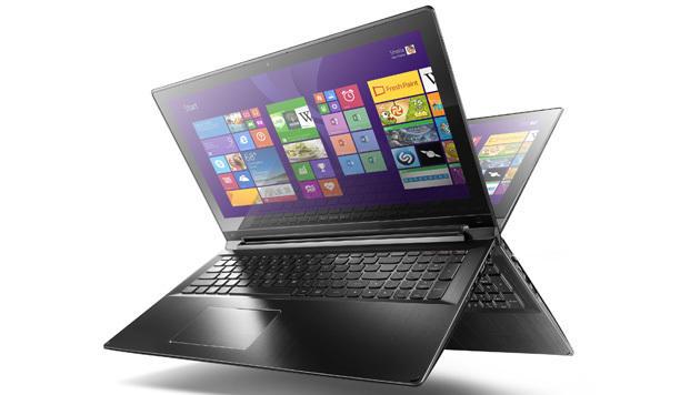 Lässt sich dank 300-Grad-Scharnier aufstellen wie ein Zelt: Lenovos Flex 2 Pro (Bild: Lenovo)