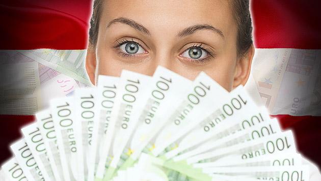 Niedrige Einkommen sinken, die hohen steigen (Bild: thinkstockphotos.de, krone.at-Grafik)