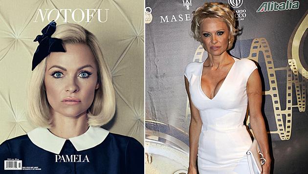 "Im ""No Tofu""-Magazin präsentiert sich Pamela Anderson im neuen, braven Look. (Bild: No Tofu, APA/EPA/CLAUDIO ONORATI)"