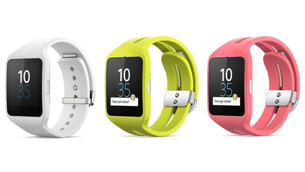 Telefonier-Armband und neue Smartwatch von Sony (Bild: Sony)