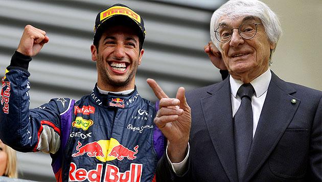 "Ecclestone: ""Ricciardo kann noch den Titel holen"" (Bild: AP, AFP, krone.at-Grafik)"
