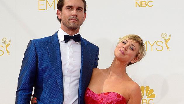 Seit dem 31. Dezember 2013 ist Kaley Cuoco mit dem Tennisspieler Ryan Sweeting verheiratet. (Bild: EPA/Paul Buck)