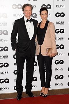 Colin Firth mit Ehefrau Livia (Bild: Jonathan Short/Invision/AP)