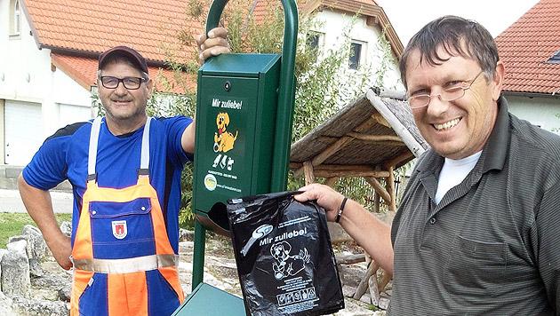 Gemeindearbeiter mit Initiator M. Niszl (Bild: zVg)