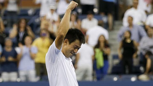 Historisch: Kei Nishikori steht als erster Japaner in einem Grand-Slam-Halbfinale. (Bild: AP)