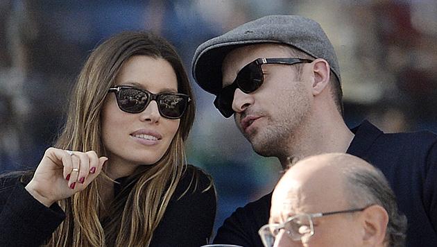 Hat Justin Timberlake Jessica Biel mit einer seiner Sängerinnen betrogen? (Bild: EPA)