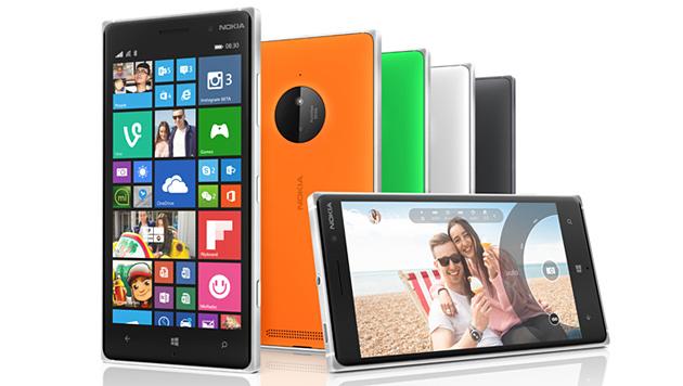 Gewohnt bunt: das neue Lumia 830 mit 5-Zoll-Display und 10-Megapixel-Kamera. (Bild: Microsoft)