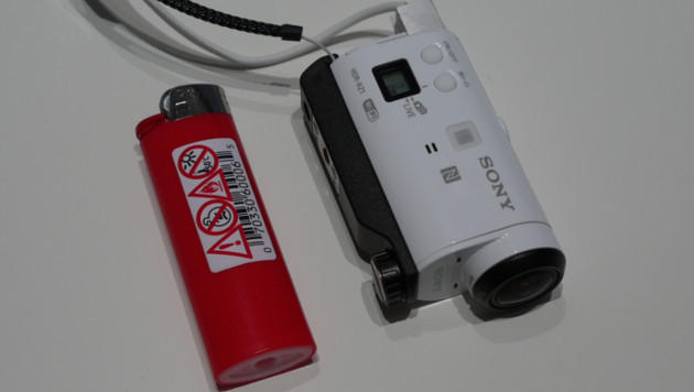 Winzig: Sonys neue ActionCam Mini (Bild: Dominik Erlinger)