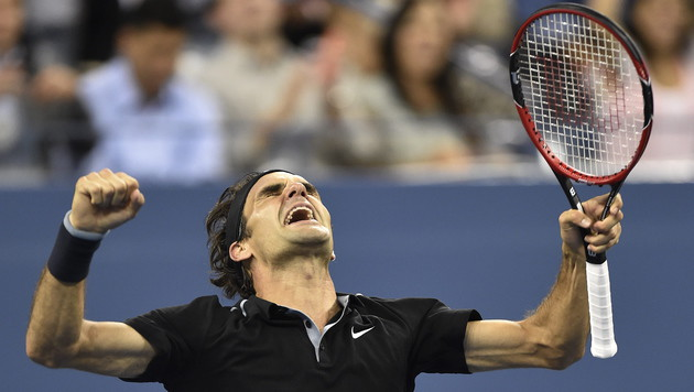 """Federer siegt in """"Wahnsinns-Krimi"""" bei US Open (Bild: EPA/Daniel Murphy)"""