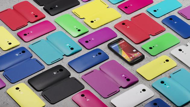 Auch das kostengünstige Moto G lässt sich ganz nach Belieben designen. (Bild: Motorola)