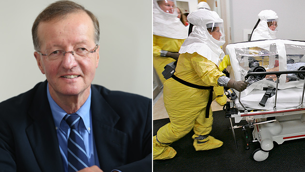 Chemiker und Virenforscher Dr. Norbert Bischofberger (li.) (Bild: Peter Tomschi/AP)